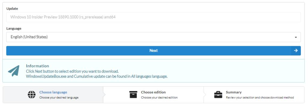 Downloading the latest Windows 10 Insider Preview - HypervLAB